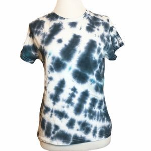 Urban Outfitters Tie Dye Blue Crop Top T-Shirt